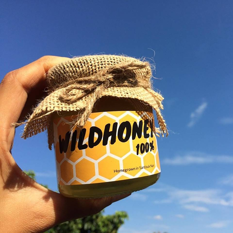 น้ำผึ้งป่าแท้ 100%  ร้าน Moh Bekery จ. น่าน