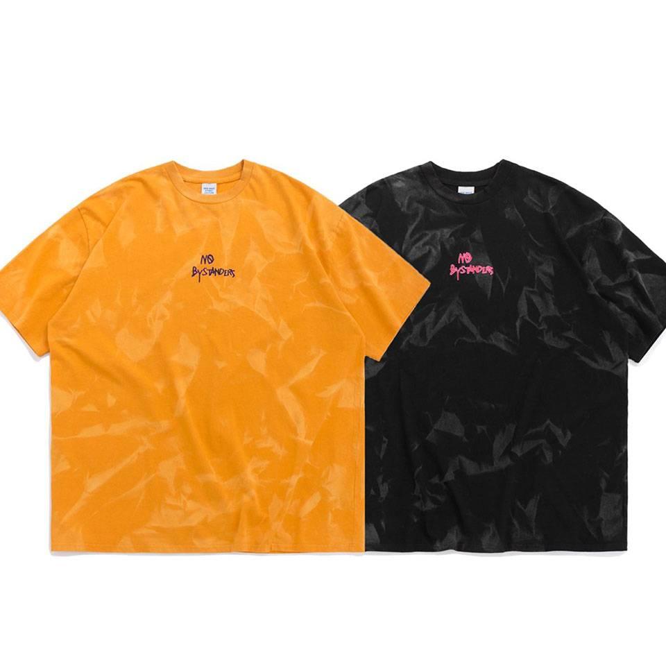 เสื้อยืดโอเวอร์ไซส์สีมัดย้อมแนวสตรีท by inflation