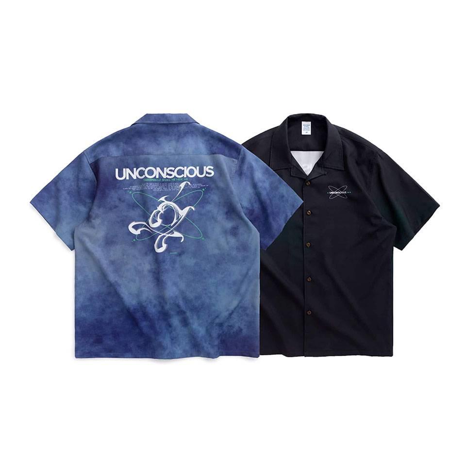 เสื้อเชิ้ตโอเวอร์ไซส์สีผสม UNCONSCIOUS  by inflation