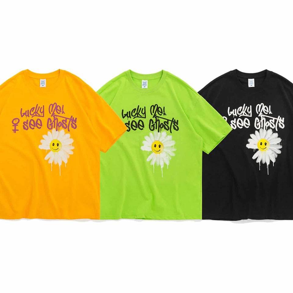 เสื้อยืดโอเวอร์ไซส์พิมพ์ลายดอกมุราคามิ by inflation