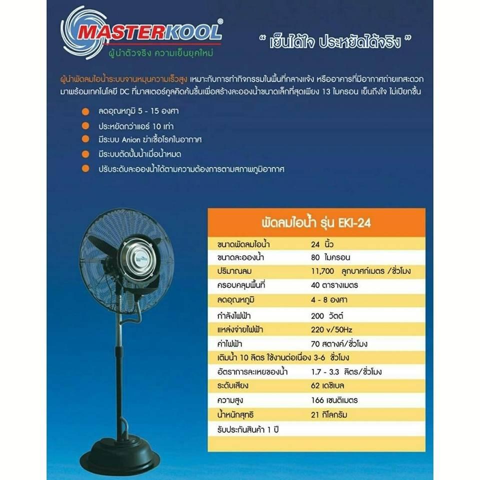 พัดลมไอน้ำระบบจานหมุน ECOKOOL ICE 24 นิ้ว รุ่นEKI 24